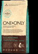 ONE&ONLY Turkey & Rice Adult All BreedsИндейка с рисом для взрослых собак всех пород 12 кг
