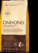 ONE&ONLY Duck & Rice Adult All BreedsУтка с рисом для взрослых собак всех пород 12 кг