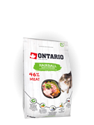 Ontario Корм Ontario для вывода шерсти у кошек, с уткой и курицей, Ontario Cat Hairball