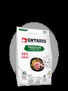 Ontario для кошек с чувствительным пищеварением, с уткой и ягненком, Ontario Cat Sensitive/Derma