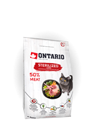 Ontario Корм Ontario для стерилизованных кошек, с ягненком, Ontario Cat Sterilised Lamb