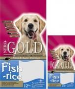 NERO GOLD Для Взрослых собак: Рыбный коктейль, рис и овощи (12 кг)