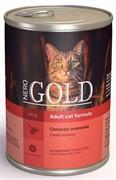"""NERO GOLD консервы для кошек """"Свежая оленина"""", Venison"""