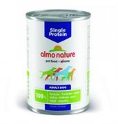 Almo Nature консервы для собак с чувствительным пищевариением (монобелковый рацион) с индейкой, Single Protein Turkey