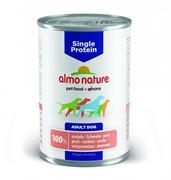 Almo Nature консервы для собак с чувствительным пищевариением (монобелковый рацион) со свининой, Single Protein Pork