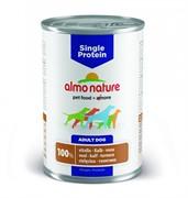 Almo Nature консервы для собак с чувствительным пищевариением (монобелковый рацион) с телятиной, Single Protein Veal