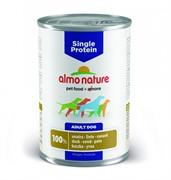 Almo Nature консервы для собак с чувствительным пищевариением (монобелковый рацион) с уткой, Single Protein Duck
