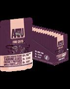AATU Паучи для кошек с лососем, курицей и креветками