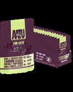 AAATU Паучи для кошек с уткой и куриной печенью