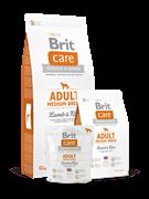 Brit Care Adult Medium Breed  д/собак средних пород ягнёнок с рисом (12 кг)