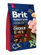 Brit Брит Premium by Nature Adult L д/взрослых собак крупных пород