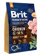 Brit Брит Premium by Nature Adult M д/взрослых собак средних пород