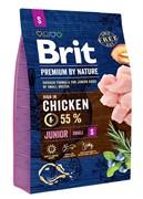 Brit Брит Premium by Nature Junior S д/молодых собак мелких пород