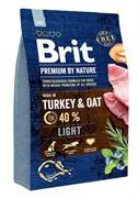 Brit Брит Premium by Nature Light д/взрослых собак с избыточным весом (15 кг)