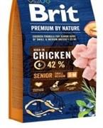 Brit Брит Premium by Nature Senior S+M д/пожилых собак мелких и средних пород (15 кг)