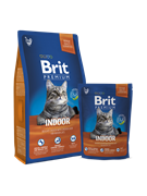 Brit Брит Premium Cat  Indoor курица и печень д/кошек, домаш. содержания