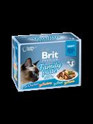 Brit Брит премиум Набор паучей д/к Family Plate Gravy Семейная тарелка (кусочки в соусе) 12x85 г