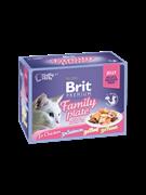 Brit Брит премиум Набор паучей д/к Family Plate Jelly Семейная тарелка (кусочки в желе) 12x85 г