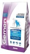 Gemon Dog Medium корм для взрослых собак средних пород тунец с рисом (15 кг)