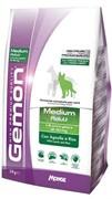 Gemon Dog Medium корм для взрослых собак средних пород ягненок с рисом (15 кг)