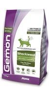 Gemon Cat Sterilised корм для стерилизованных кошек с индейкой