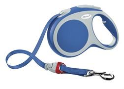 Поводок-рулетка до 60кг, 5м,Vario L синяя
