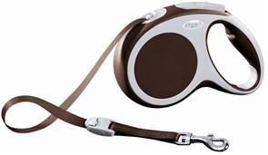 Поводок-рулетка до 25кг, 5м, ленточная Vario M коричневая