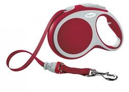 Поводок-рулетка до 25кг, 5м, ленточный Vario M красная