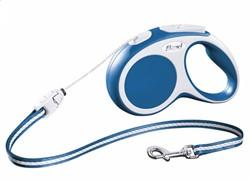 Поводок-рулетка до 20кг, 5м, тросовый Vario M синяя