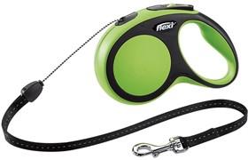 Поводок-рулетка для собак Flexi New Comfort S тросовый 12кг, 5м Зеленая