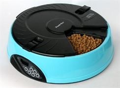 "Автокормушка ""Feed-Ex PF6B""на 6 кормлений для кошек и мелких пород собак (голубая)"