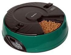 "Автокормушка ""Feed-Ex PF6 Green""на 6 кормлений для кошек и мелких пород собак (зеленая)"
