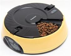 "Автокормушка ""Feed-Ex PF6Y"" на 6 кормлений для кошек и мелких пород собак(желтая) (PF6Y)"
