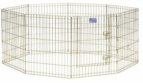 MidWest вольер 8 панелей 61х76h см с дверью позолоченный цинк