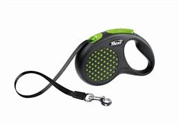 Рулетка-ремень для собак до 25 кг, 5м, зеленая (Design M Tape 5 m, green)