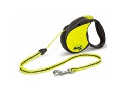 Flexi Рулетка-трос светоотражающая для собак до 20кг, 5м (Neon Reflect M cord 5m)
