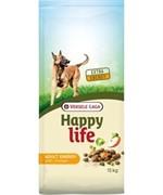 Happy Life (Versele-Laga) Для активных собак с курицей (Happy life Adult Chicken Energy)