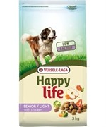 Happy Life (Versele-Laga) Для пожилых собак с курицей, контроль веса (Happy life Light Senior Chicken) (15 кг)
