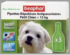 Беафар БиоКапли д/собак мелких пород от блох и клещей 3 пипетки