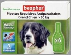 Беафар БиоКапли д/собак крупных пород > 30кг от блох и клещей 6 пипеток