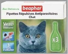 Беафар  БиоКапли д/кошек от блох и клещей 3 пипетки