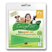 Грин Форт БиоКапли д/кошек, кроликов и собак менее 10кг от эктопаразитов 1пипетка*1мл