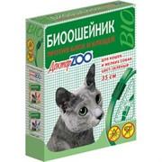 Доктор ЗОО БИОошейник д/кошек и мелких собак против блох и клещей зеленый 35см