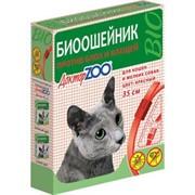 Доктор ЗОО БИОошейник д/кошек и мелких собак против блох и клещей красный 35см