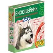 Доктор ЗОО БИОошейник д/собак против блох и клещей красный 65см