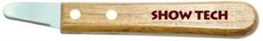 SHOW TECH тримминговочный нож 3200 с деревянной ручкой для очень мягкой шерсти