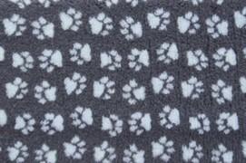 ProFleece коврик меховой 1х1,6 м угольный/голубой