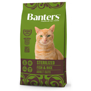 Banters Sterilized рыба с рисом сухой корм для кошек