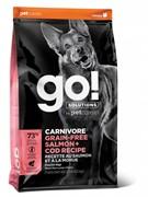 GO! беззерновой для собак всех возрастов c лососем и треской, GO! CARNIVORE GF