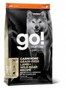 GO! беззерновой для собак всех возрастов c ягненком и мясом дикого кабана, GO! CARNIVORE GF